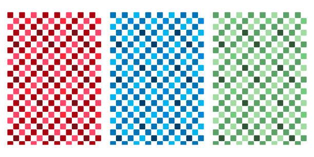 日本のカラフルなチェッカー抽象ベクトル背景コレクション - パターンや背景点のイラスト素材/クリップアート素材/マンガ素材/アイコン素材