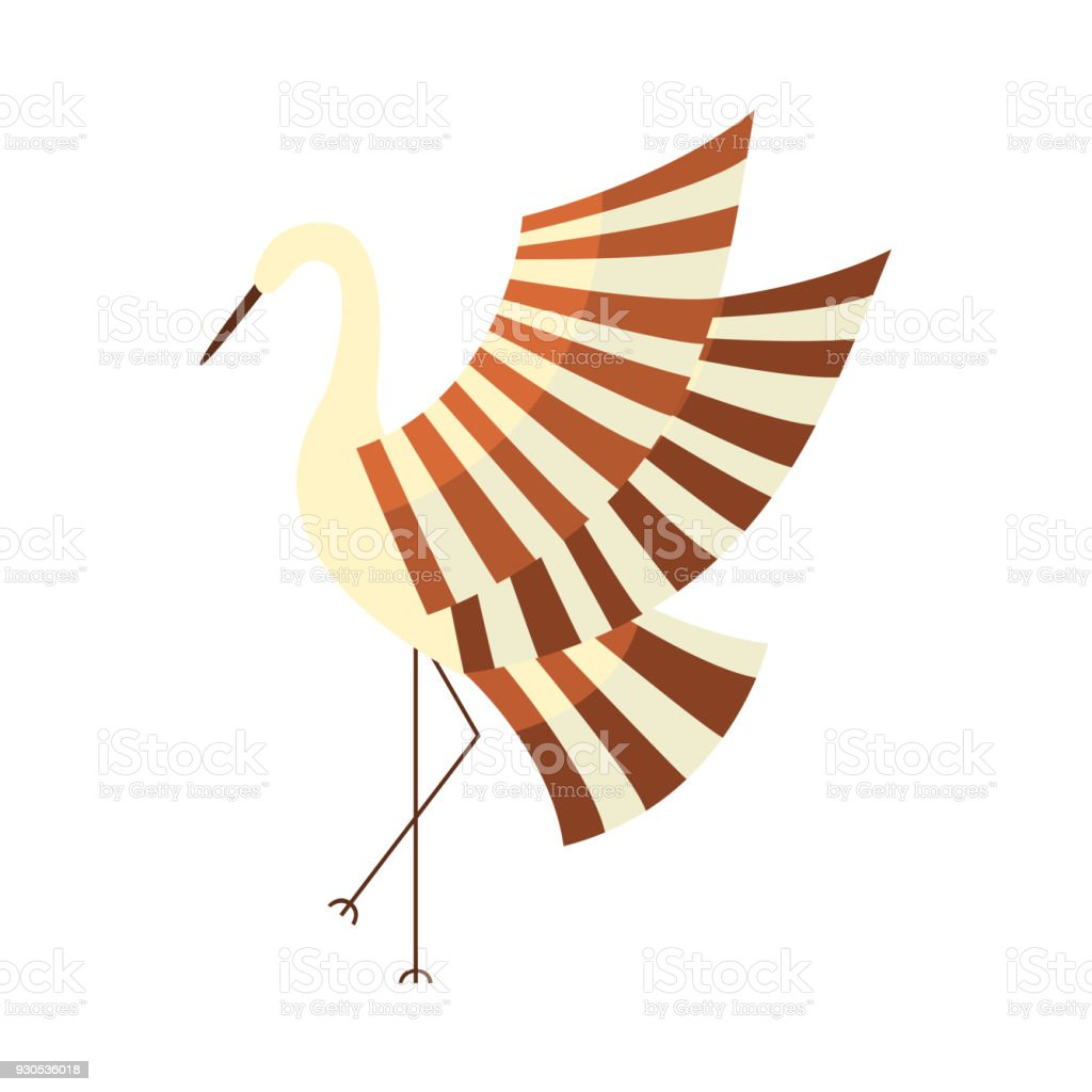 Japanese Crane Symbol Of Good Luck And Longevity Stock Vector Art