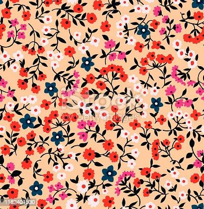 Japanese Cute Small Flower Seamless Pattern