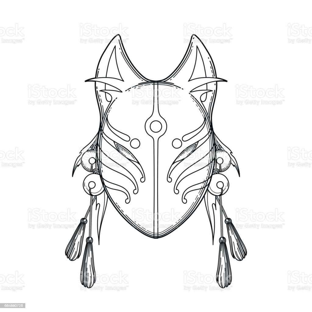 It's just a photo of Fan Demon Fox Drawing