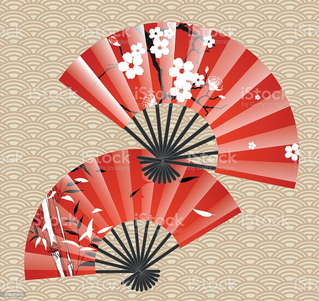 Japanese Fan Stock Vector Art & More Images of Animal ...