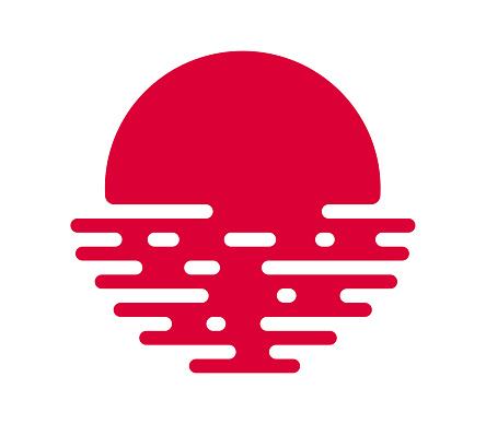 Japanese Flag Sunset