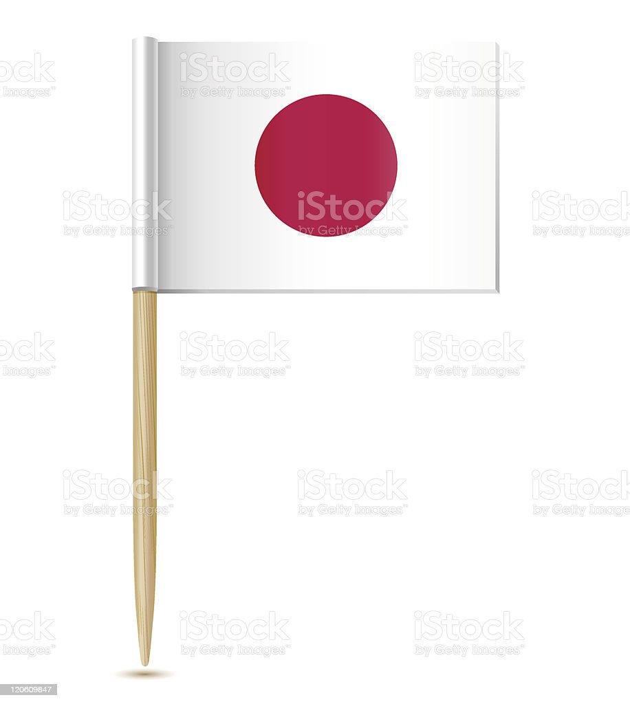Japanese flag toothpick royalty-free stock vector art