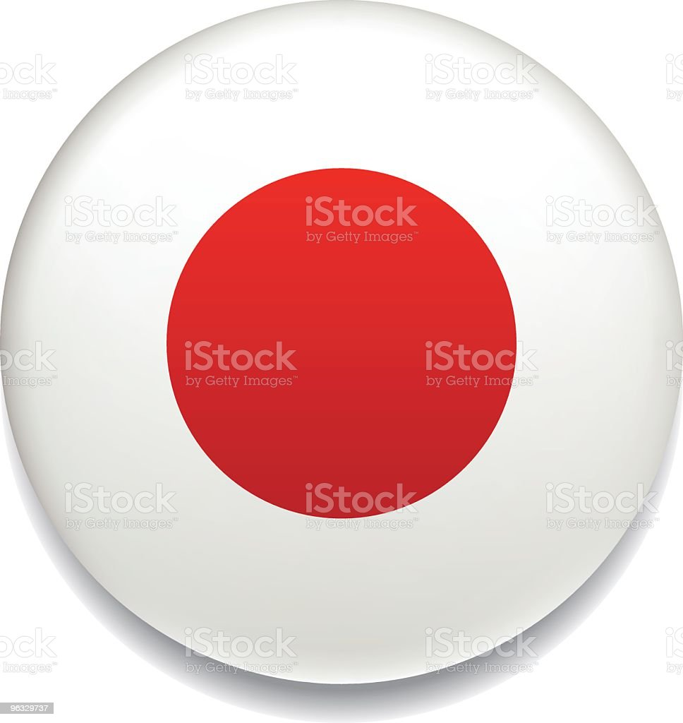 Japanese flag vector button vector art illustration