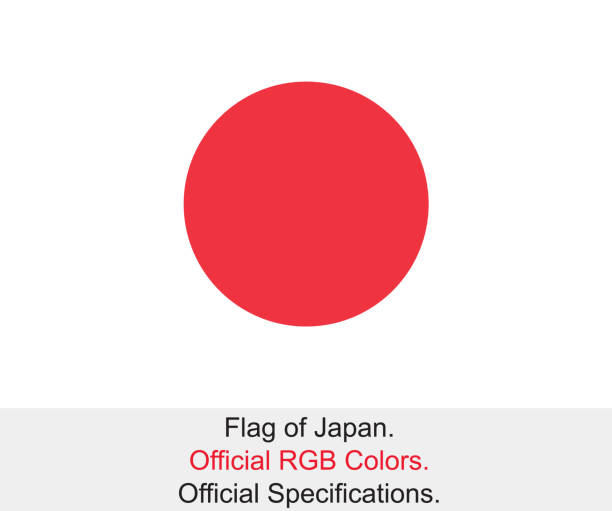 Japanese Flag (Official RGB Colours, Official Specifications) vector art illustration