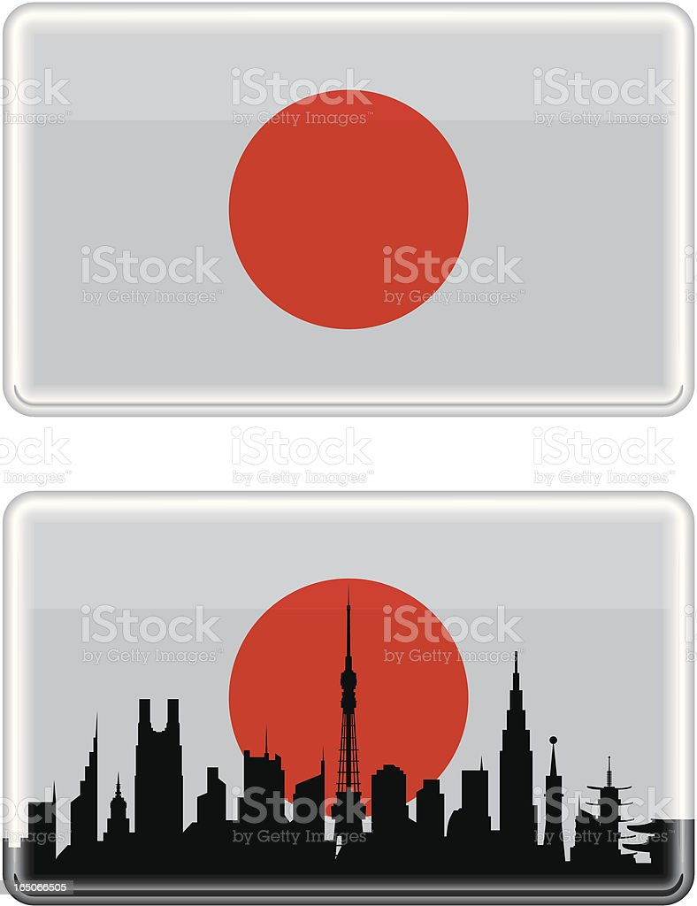 Japanese Flag royalty-free stock vector art