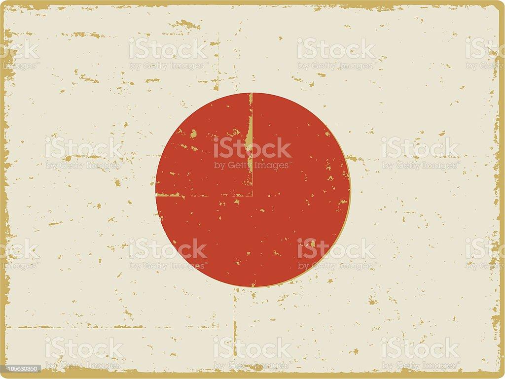 Japanese Flag royalty-free stock vector art