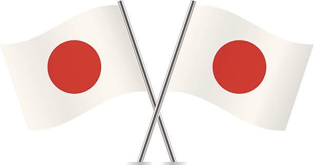 ilustraciones, imágenes clip art, dibujos animados e iconos de stock de japonés flags.  vector. - bandera japonesa
