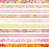background of Japanese flowers. header. banner.