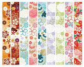 Japanese flower pattern lines