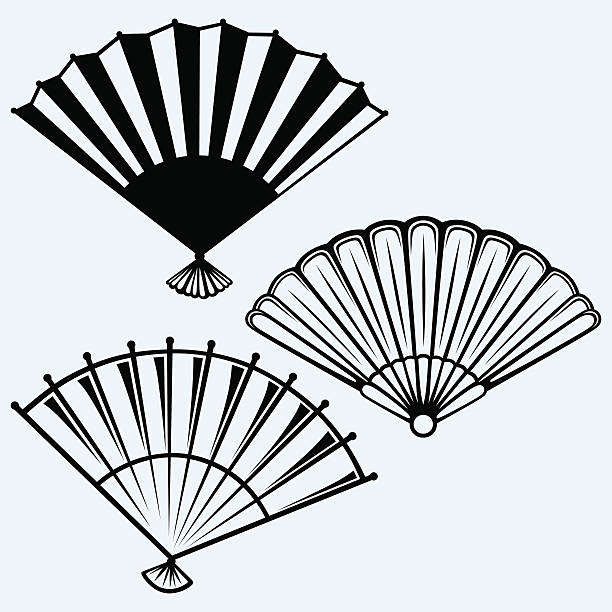 Royalty Free Hand Fan Clip Art, Vector Images ...