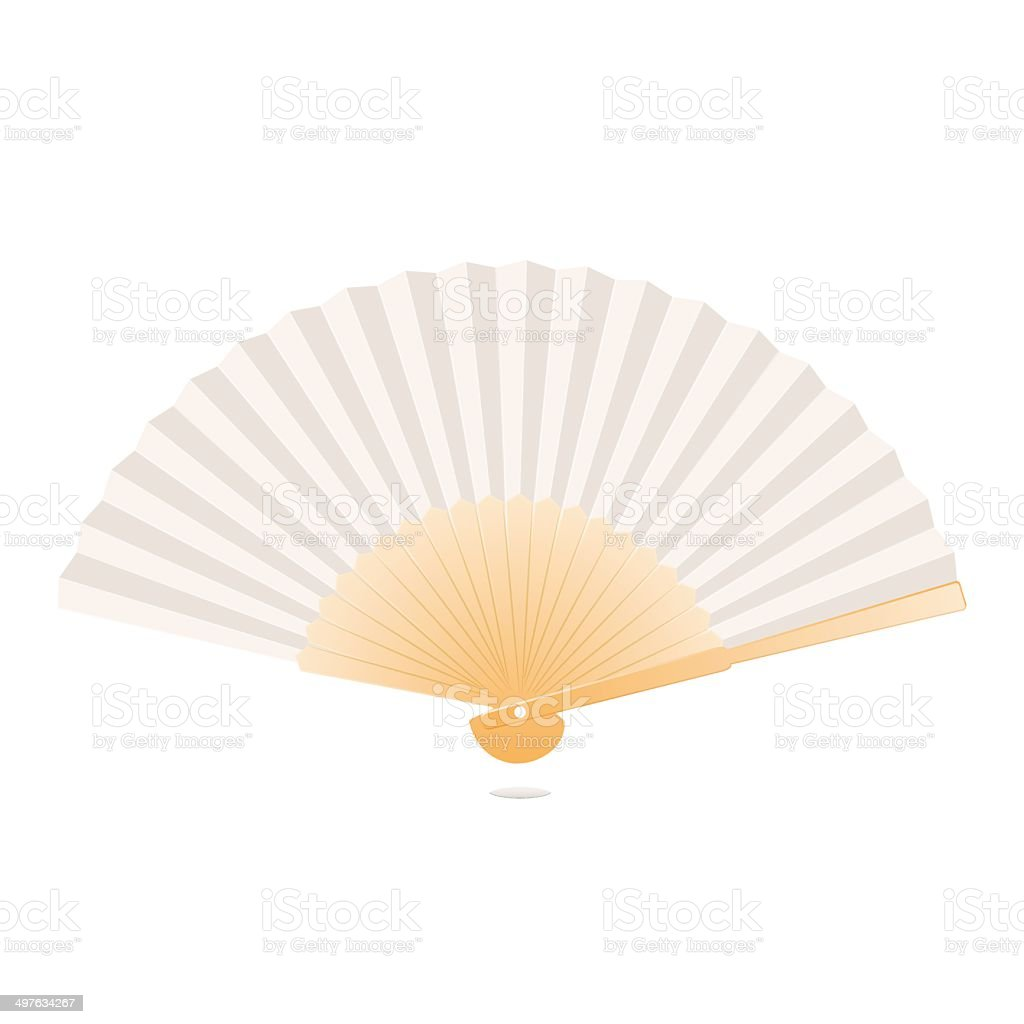 Japanese Folding Fan vector art illustration