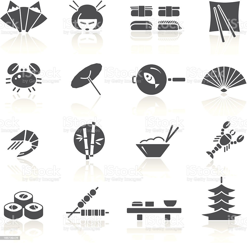 Japanese Food & Culture vector art illustration