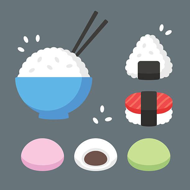 日本料理「ライス」のお料理 - 和食点のイラスト素材/クリップアート素材/マンガ素材/アイコン素材