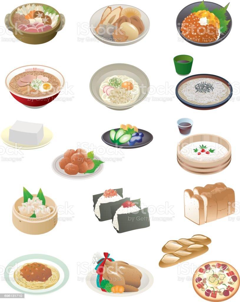 日本の料理 ベクターアートイラスト