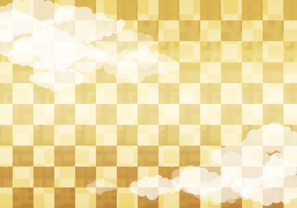 クラウドで日本の金パターン背景 - 正月点のイラスト素材/クリップアート素材/マンガ素材/アイコン素材