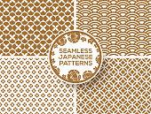 Japanese gold seamless patterns
