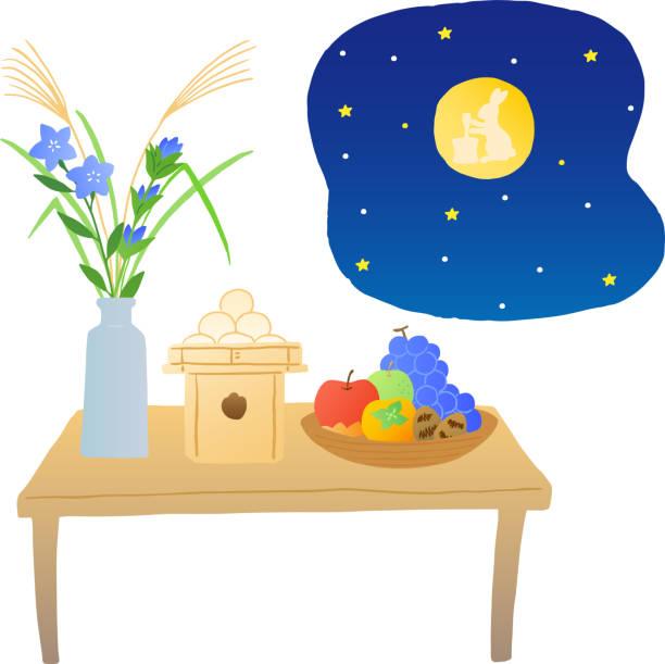 日本の収穫月観覧イベント - 十五夜点のイラスト素材/クリップアート素材/マンガ素材/アイコン素材