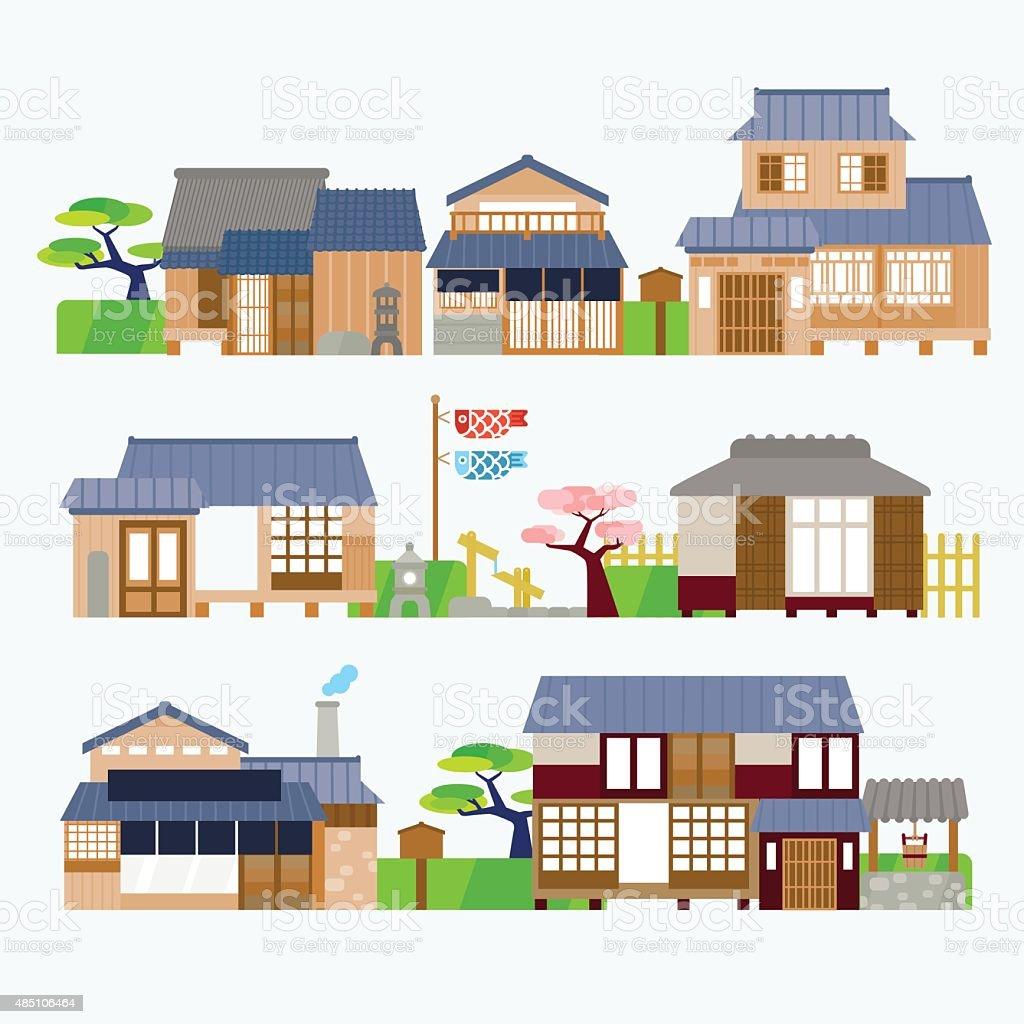 日本の家 アジア大陸のベクターアート素材や画像を多数ご用意 Istock