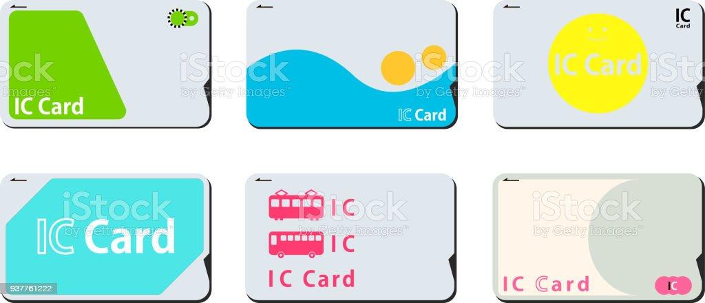 Japanische IC-Karten-set – Vektorgrafik