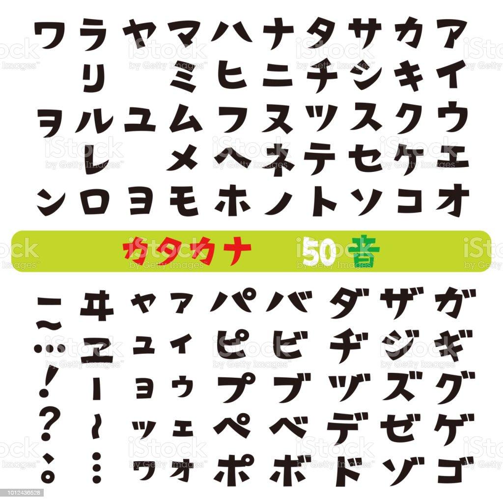 Japanese Katakana Fonts Stock Vector Art More Images Of Characters