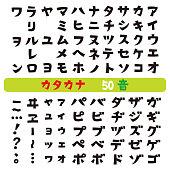 Japanese katakana fonts