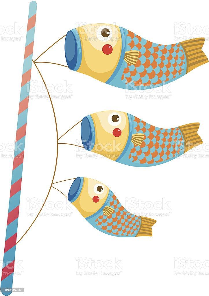 Carpa windsocks japonês - ilustração de arte em vetor