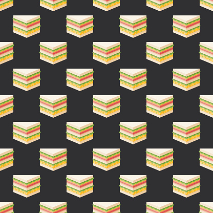 Japanese Konbini Sandwich Pattern