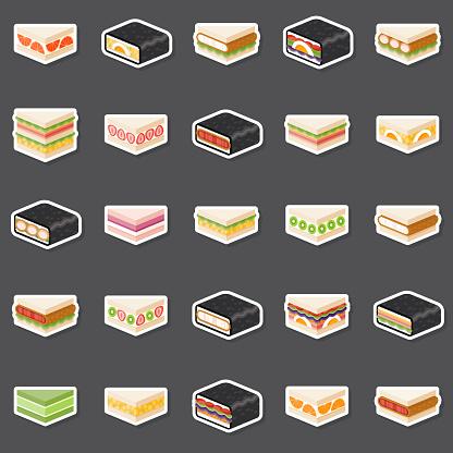 Japanese Konbini Sandwiches Sticker Set