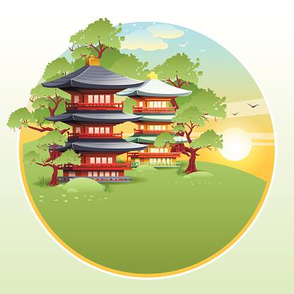 Japanese landscape label 2