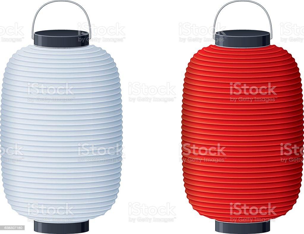 Japanese lantern vector art illustration