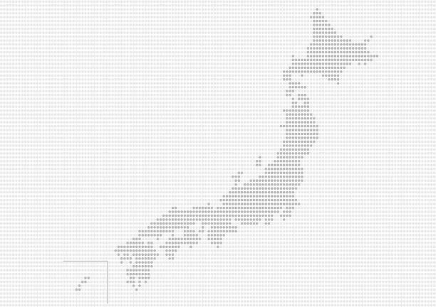 japanese map of gray dots - 出張点のイラスト素材/クリップアート素材/マンガ素材/アイコン素材