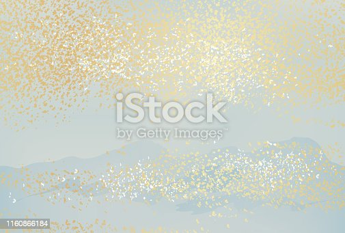 Japanese New Year's card template with seamless abstract pattern, vector illustration. Horizontally repeatable.