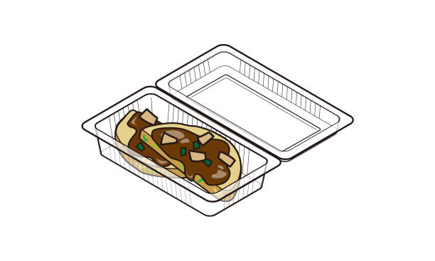 外賣食品包中的日本 okonomiyaki - hiroshima 幅插畫檔、美工圖案、卡通及圖標