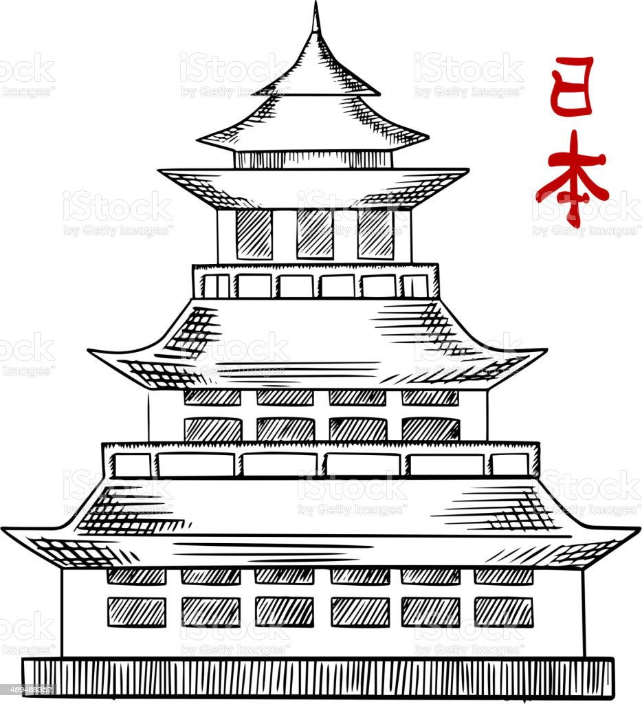 japanese castle coloring pages - photo#10