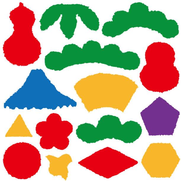 japanisches papier-label. neujahr-symbole. - flaschenkürbis stock-grafiken, -clipart, -cartoons und -symbole