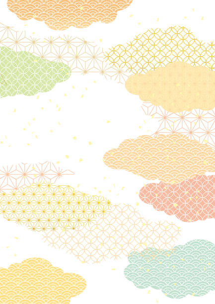 Japanese pattern background Beautiful Japanese Pattern japanese culture stock illustrations