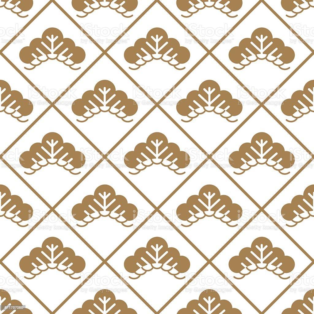 japanese pattern gold Vector vector art illustration