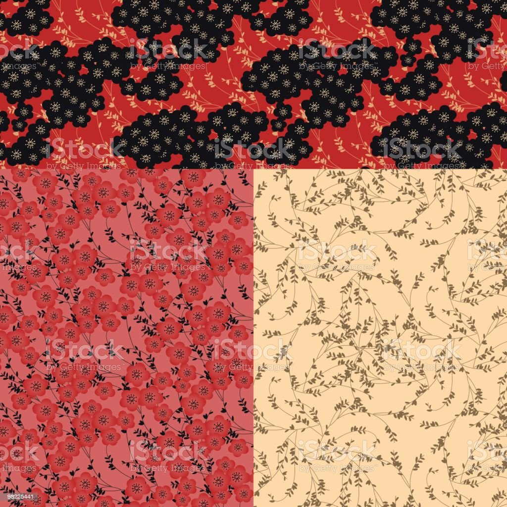 Japanese Pattern Group royalty-free japanese pattern group stock vector art & more images of backgrounds