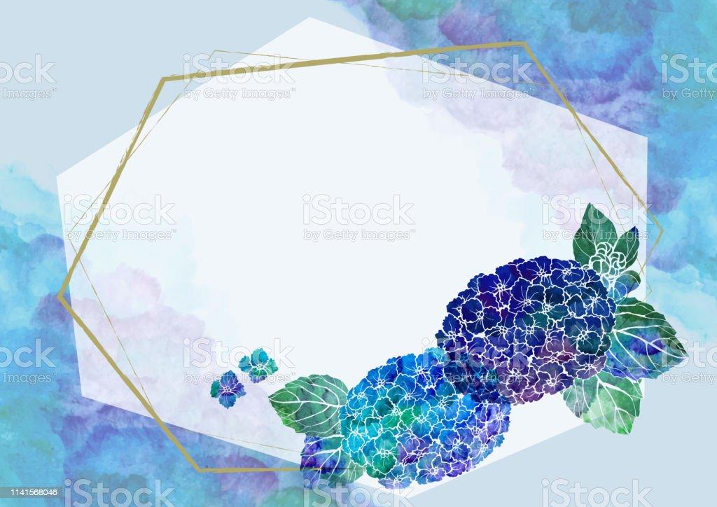 和柄 手書きの紫陽花 和風の背景素材 水彩 フレーム あじさい 6月 お祝いのベクターアート素材や画像を多数ご用意 Istock