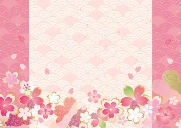 ilustrações de stock, clip art, desenhos animados e ícones de japanese pattern of cherry blossoms - cherry blossoms