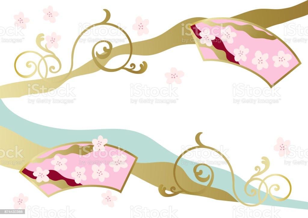和柄日本の春春のイメージカレンダー クリップアート背景