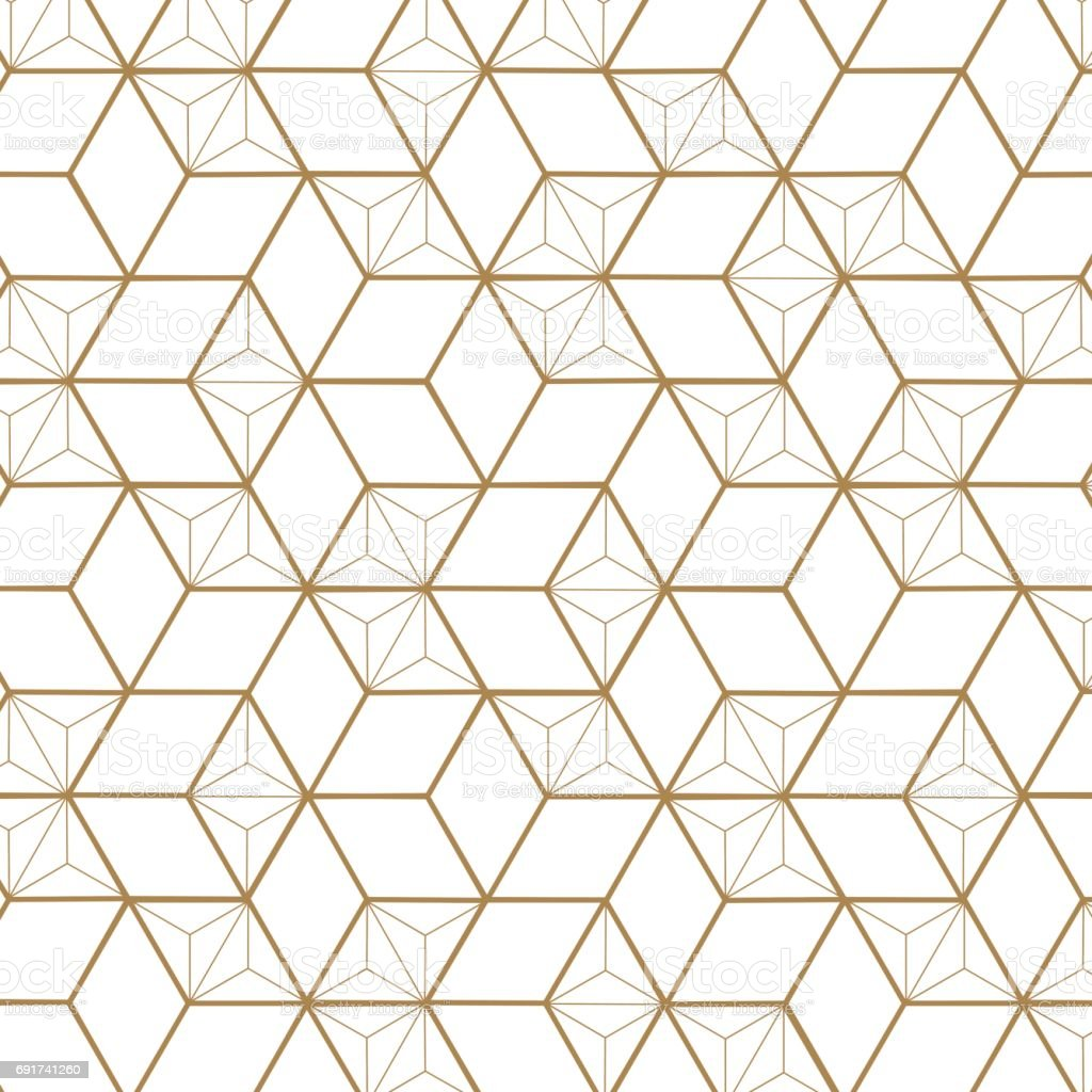 japanese pattern vector gold geometric background and