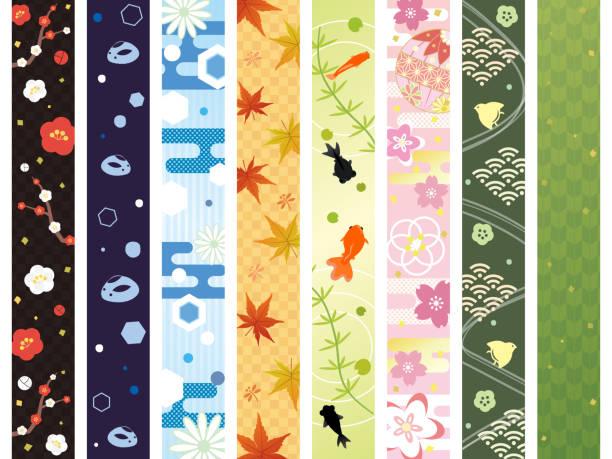 Japanese pattern Japanese pattern plum blossom stock illustrations