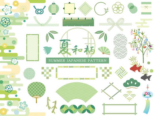 和柄 - 七夕点のイラスト素材/クリップアート素材/マンガ素材/アイコン素材