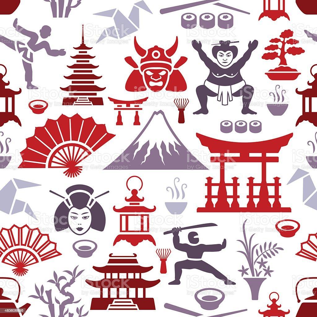 Motif japonais - Illustration vectorielle