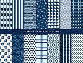 A pattern set depicting a Japanese pattern. Each Japanese pattern has a wonderful meaning. Created in cool blue. Since it is a beautiful pattern, I want many people to see it