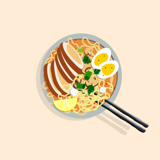 Japanese ramen illustration vector art illustration