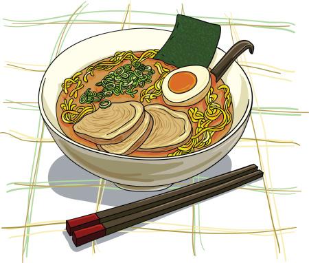 Japanese ramen illustration