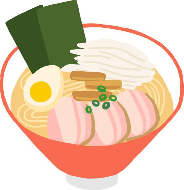 卵と豚肉のラーメン - ラーメン点のイラスト素材/クリップアート素材/マンガ素材/アイコン素材